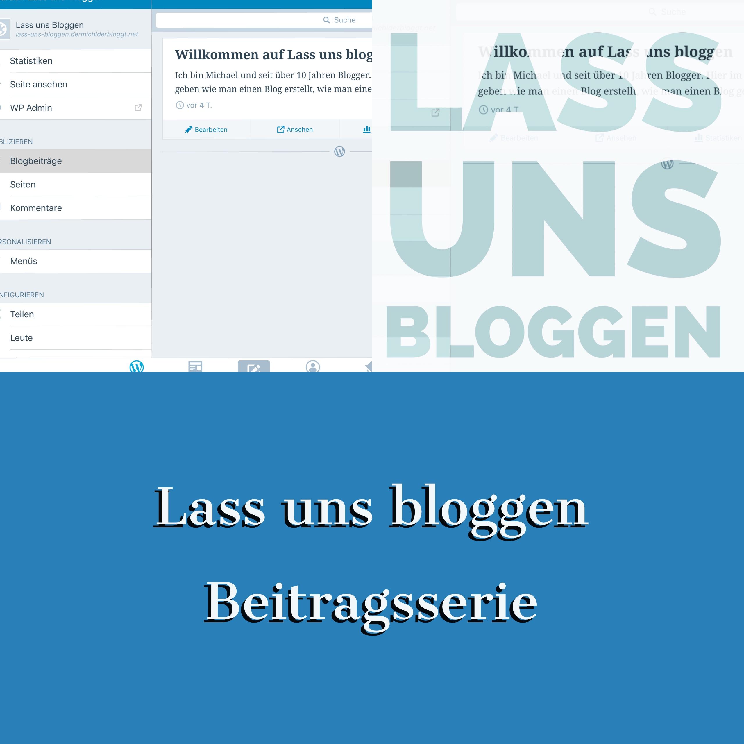 Beitragsserie bloggen mit Wordpress